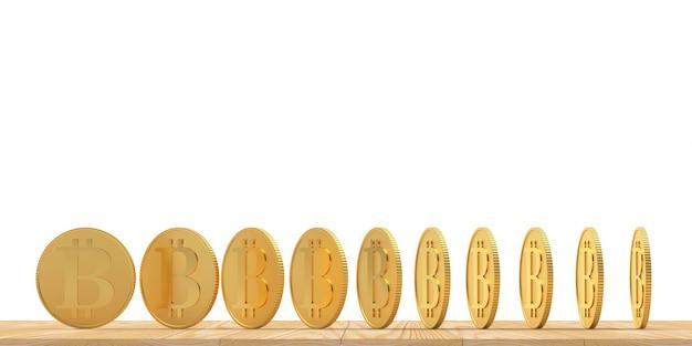 Bitcoin em diferentes ângulos de rotação