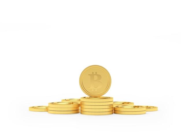 Bitcoin em uma pilha de euros