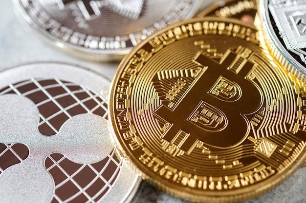 Bitcoin na frente da moeda ripple xrp criptomoeda é o futuro pagamento financeiro online