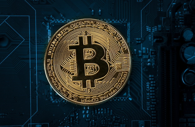 Bitcoin na placa-mãe do computador