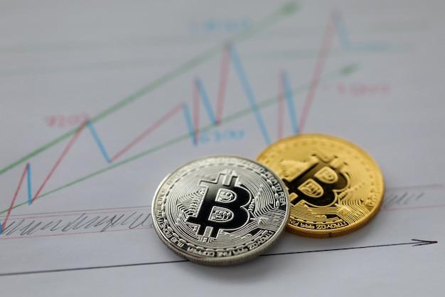Bitcoin prata e ouro