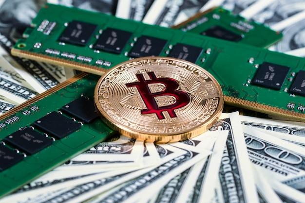 Bitcoins btc bit-coin. ram. memória de acesso aleatório. moeda criptográfica no ciberespaço como sistema de pagamento.