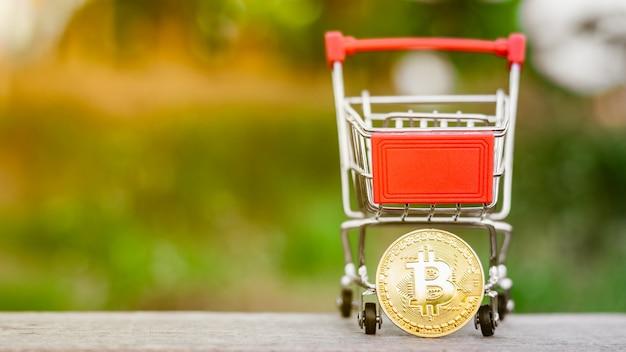 Bitcoins dourados de mineração