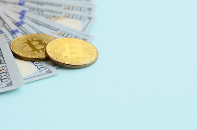 Bitcoins dourados e mentiras de cem notas de dólar