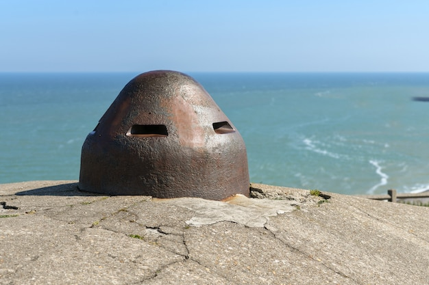 Blockhouses atlantic wall bunker em dieppe, normandia, frança