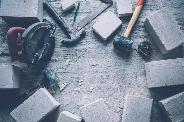 Bloco de concreto de ferramenta de construção