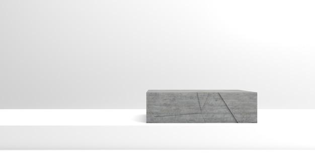 Bloco de concreto fundo 3d para vitrine de produtos