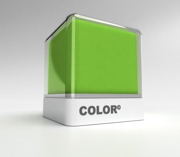 Bloco de desenho em cor verde