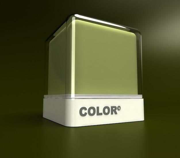 Bloco de design em verde exército