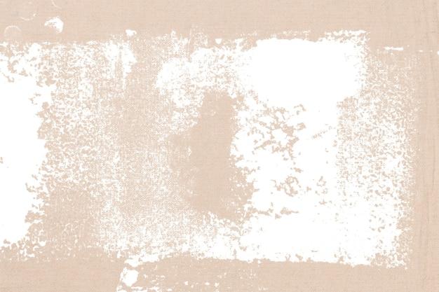 Bloco de impressão branco sobre fundo bege