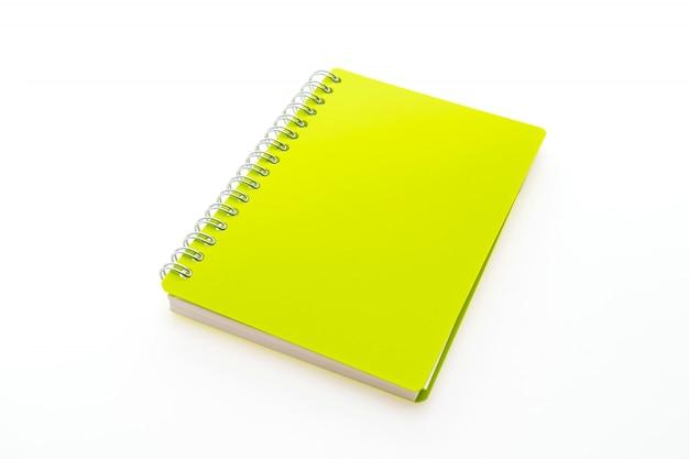 Bloco de notas amarelo com anéis