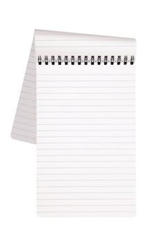 Bloco de notas com página dobrada