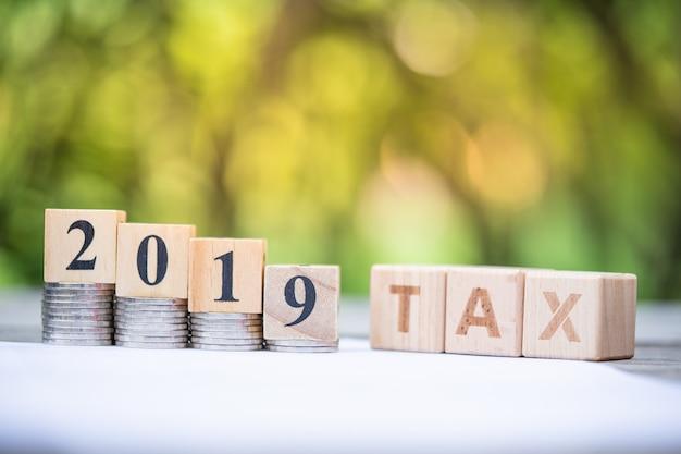 Bloco de palavras tax 2019