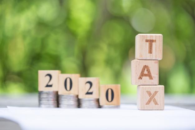 Bloco de palavras tax 2020