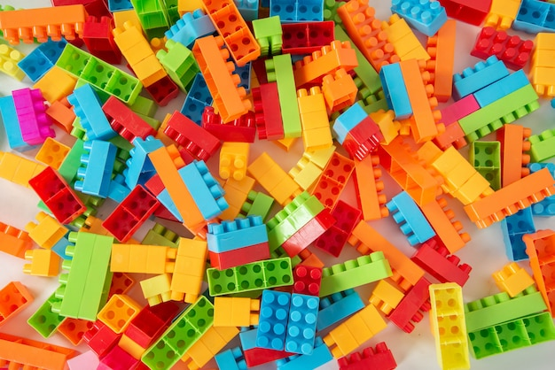 Bloco de plástico colorido