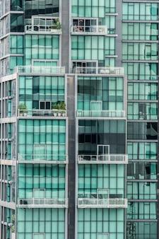 Bloco de vidro de apartamentos