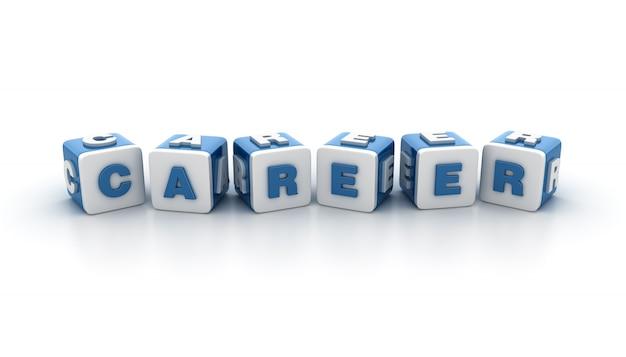 Blocos de blocos com a palavra carreira