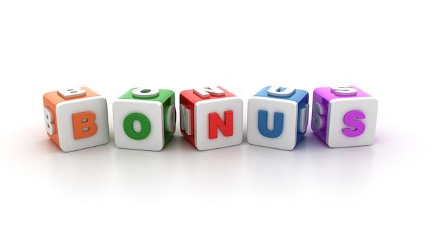Blocos de blocos com o word bonus