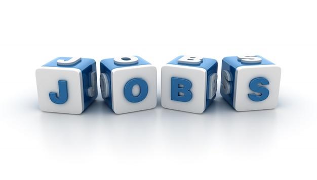 Blocos de blocos com palavra jobs