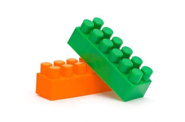 Blocos de construção de plástico