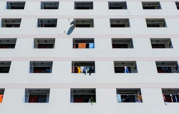 Blocos de janela de apartamentos