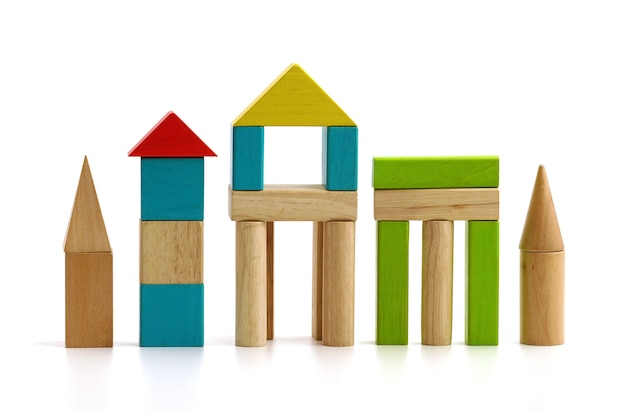 Blocos de madeira para crianças