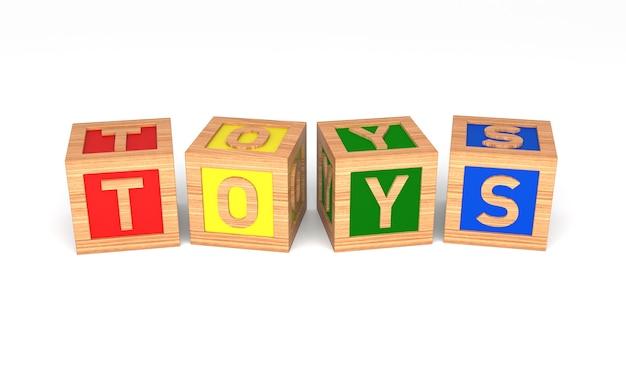 Blocos do alfabeto de brinquedos. isolado no branco. renderização 3d