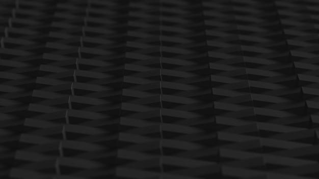 Blocos pretos renderizados em 3d