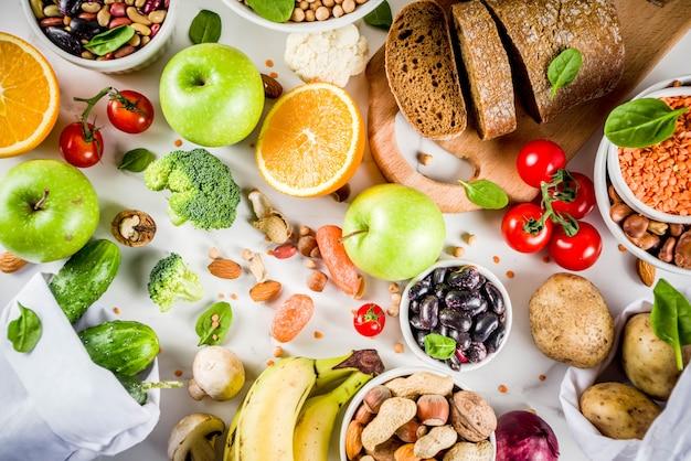 Boa comida rica em fibras de carboidratos