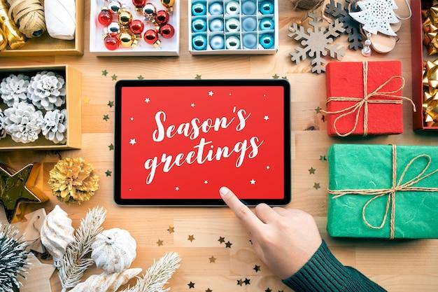 Boas festas com feliz natal