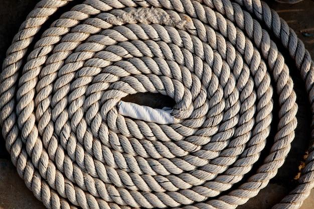 Bobina de detalhe da corda marinha