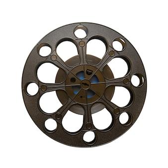 Bobina de filme cinematográfica de 16 mm isolada