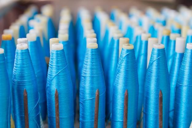 Bobina para tecelagem de seda