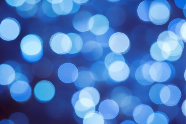 Bokeh abstrato azul luzes turva fundo de natal