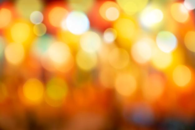 Bokeh abstrato bonito luzes vermelhas sobre fundos brilhantes