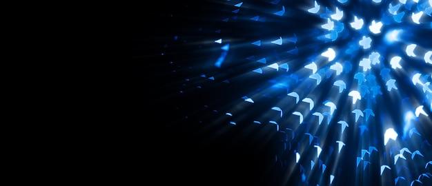 Bokeh azul abstrato com fundo desfocado