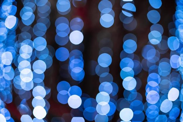 Bokeh azul turva luzes de fundo