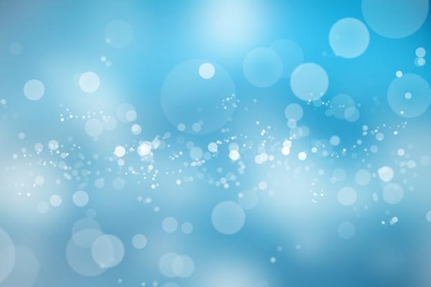 Bokeh brilhante abstrato no fundo desfocado do céu azul.