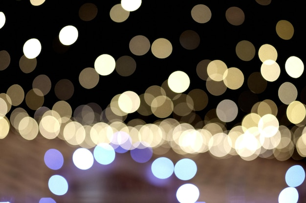 Bokeh brilhante luz de natal