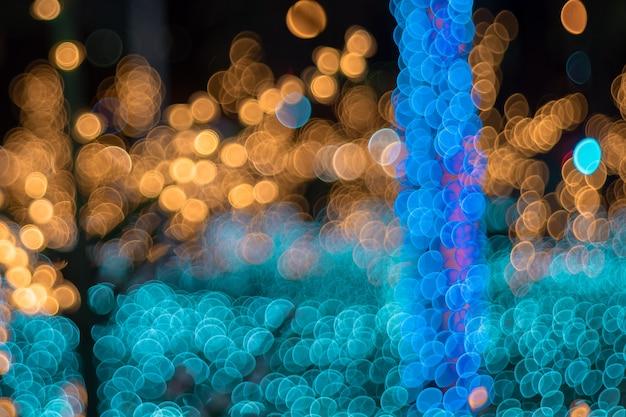Bokeh circular abstrato de luz turva fundo