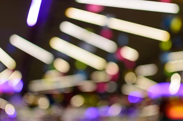Bokeh colorido luzes de néon