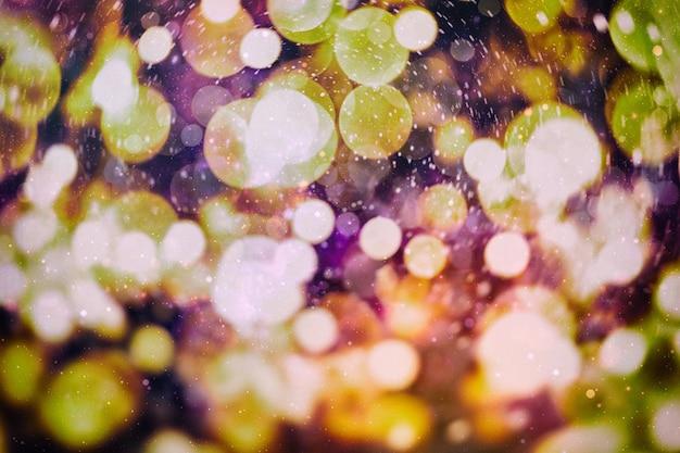 Bokeh com várias cores, fundo de bokeh de luzes festivas, luzes de bokeh desfocado, bokeh desfocado, fundo de luz bokeh vintage, ponto desfocado colorido abstrato, foco suave