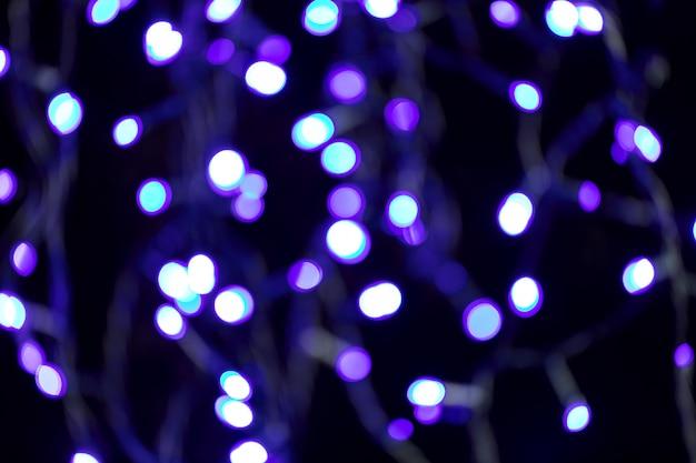 Bokeh de férias violeta turva abstrato brilhante