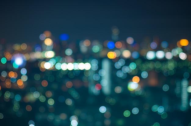 Bokeh de foto desfocada da paisagem urbana