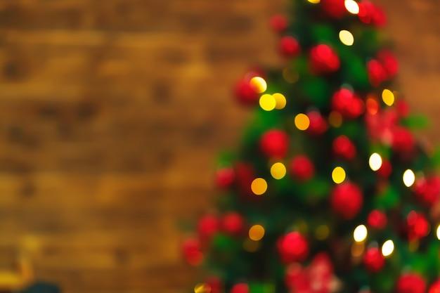Bokeh de luzes de natal