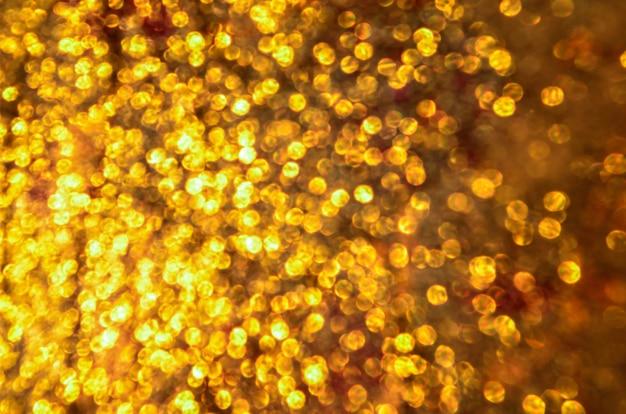 Bokeh de ouro abstrato