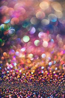 Bokeh de ouro brilho colorfull fundo abstrato turva para aniversário