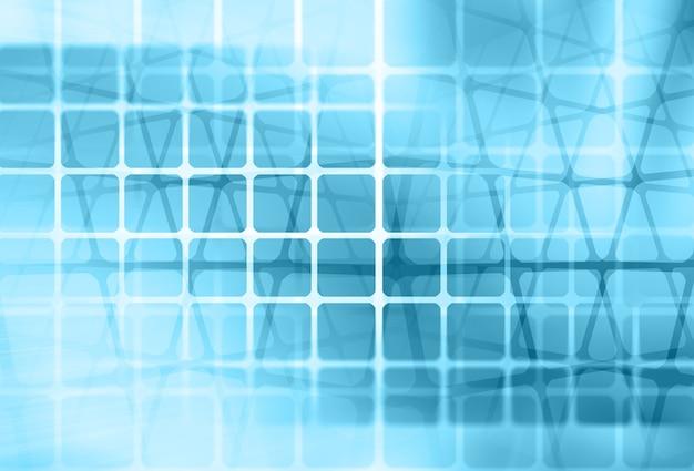Bokeh de quadros borrados no fundo abstrato azul.