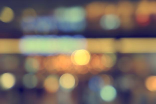 Bokeh desfocado luz, abstrato na foto da noite
