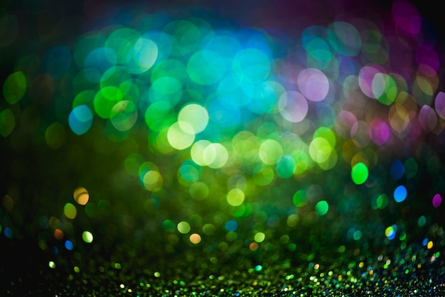 Bokeh efeito brilho fundo abstrato turva colorido para aniversário, aniversário, casamento, véspera de ano novo ou natal.